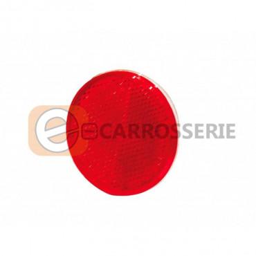 Catadioptre rouge adhésive