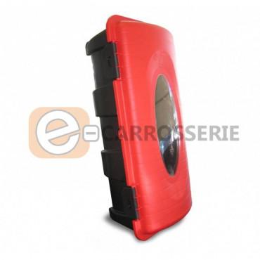 Coffre extincteur rouge 6 kg